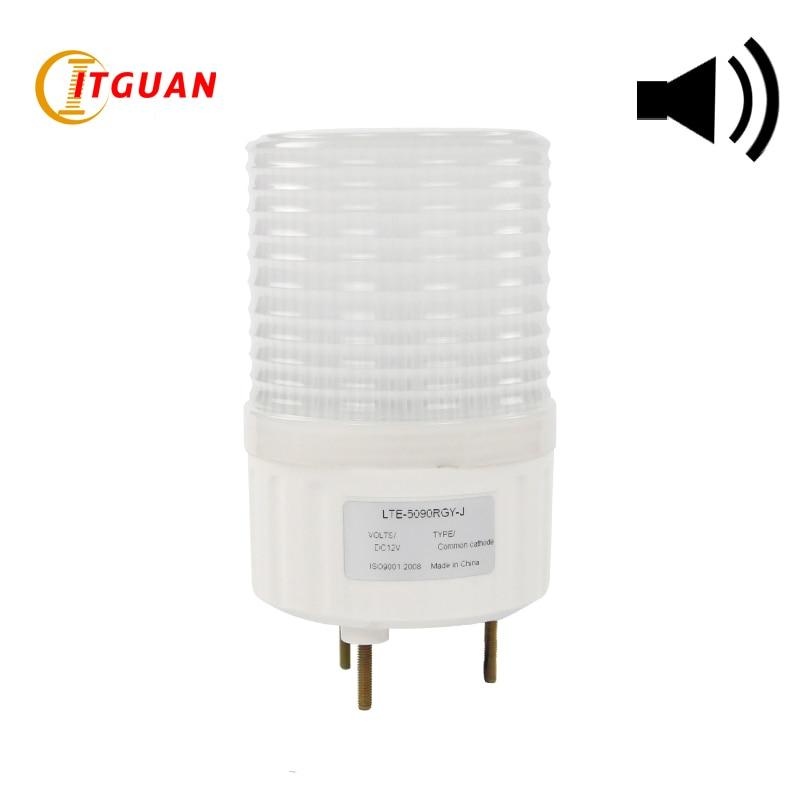 LTE-5090J Warning Light For Machine 3 color IP54 Outdoors Alarm Light 12v Signal Emergency Light 24V Warning Lamp ltd 5071 dc12v warning light emergency strobe light warning light