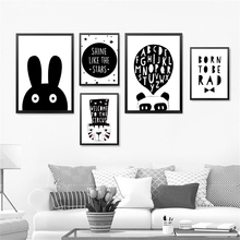 Modern Wall Art Print Poster Fashion Modular Picture Canvas Cartoon Animal Rabbit For Living Room HD2228