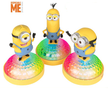 hot deal buy despicable me colorful lights sound minion 4 different voice movie soundtrack  gift  dolls toys action & toy figures