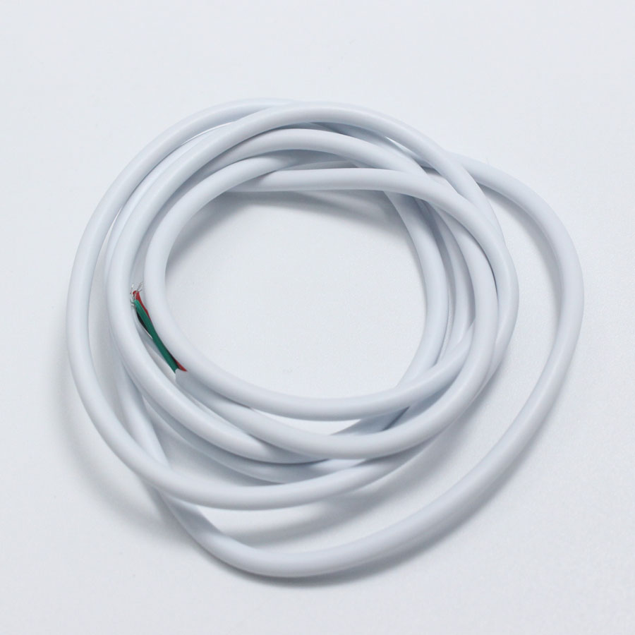 5 metre 4 wire white / black data cable / USB cable / DIY plug the ...