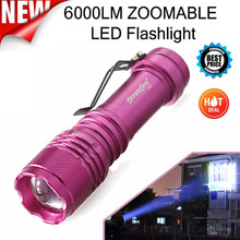 Skywolfeye 6000LM CREE Q5 AA/14500 3 Modes ZOOMABLE LED Flashlight Torch Super Bright Dropshipping 0206