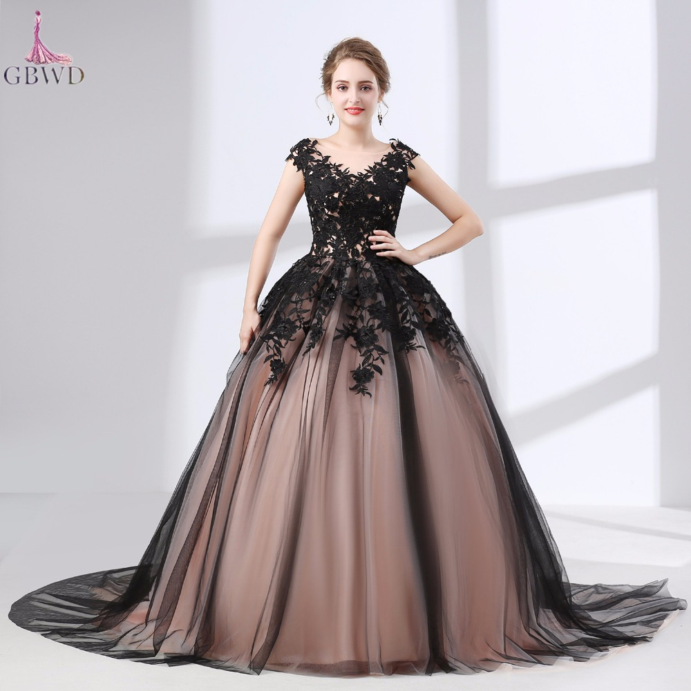 Black Short Lace Wedding Dresses with Sleeves