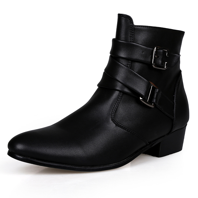 2017 fashion ankle boots men suede heel genuine leather martin boots waterproof warm point toe. Black Bedroom Furniture Sets. Home Design Ideas