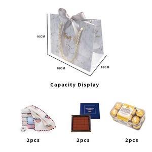 Image 3 - Avebem saco de presente estilo europeu, 10 unidades de mármore criativo, caixa de presente de casamento, lembranças de casamento e sacos de doces para hóspedes