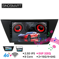 Sinosmart Android 8.1 Car GPS Navigation Radio for Volkswagen Touran Golf 7 2016 2din 2.5d IPS Screen