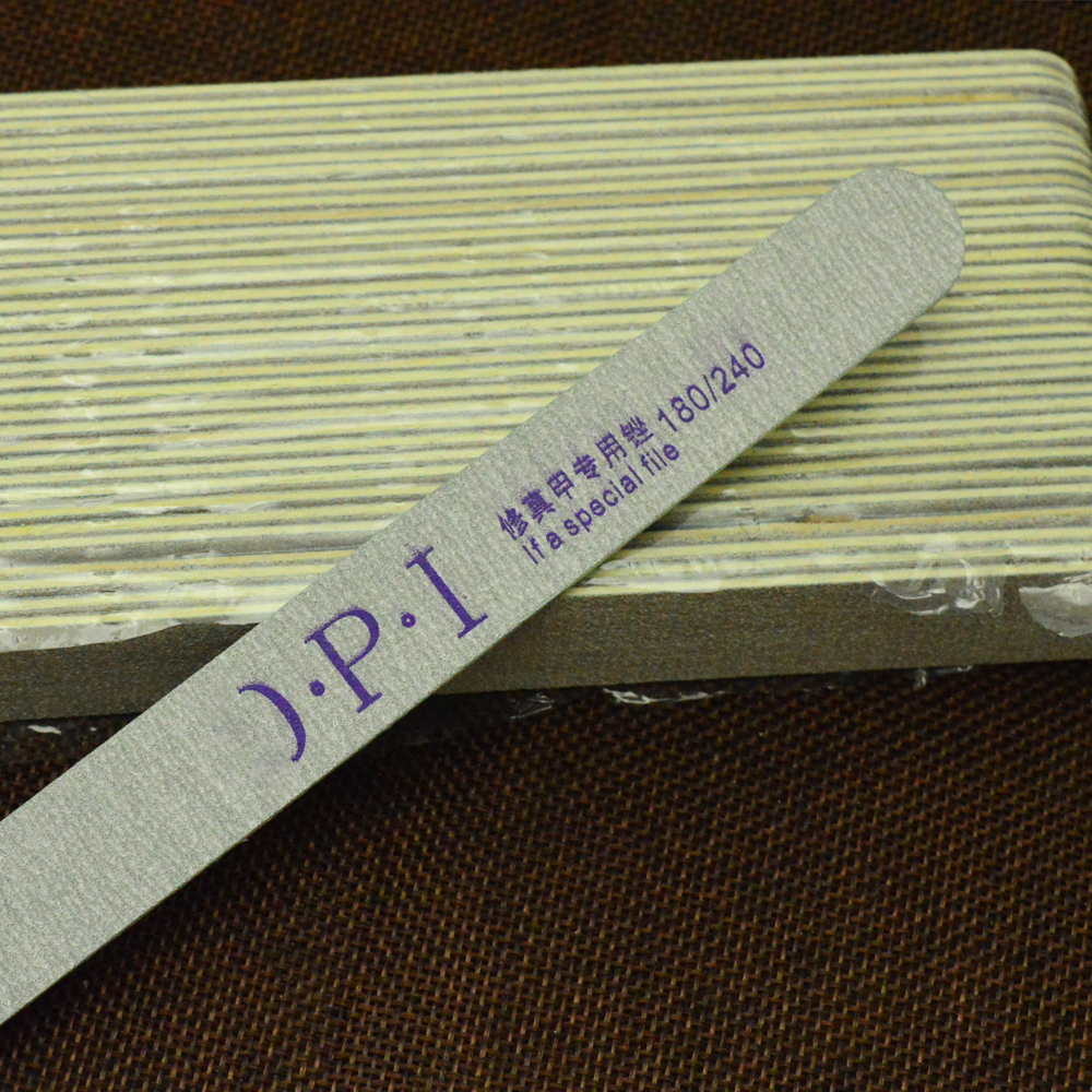 1 Peça 180/240 Double Side Lixar Arquivos Tampão Para Salão de Manicure Gel Dicas Da Arte Do Prego Pedicure Ferramenta