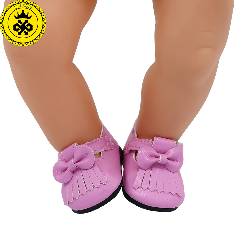 Baby Born Doll Shoes 15 Colors Cute Leather Shoes Casual Shoes Fit 43cm Zapf Baby Born Doll Accessories Girl Gift xie562
