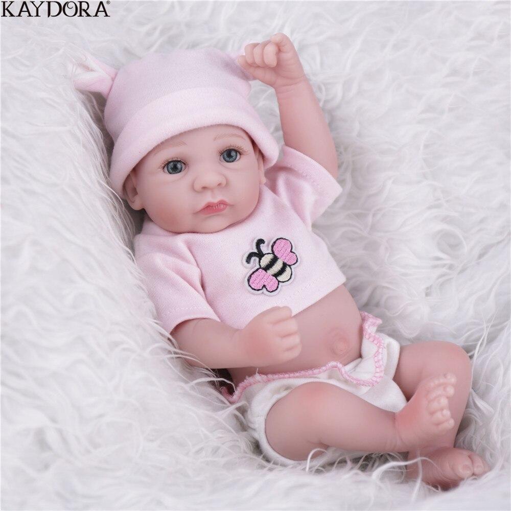 Kaydora 10 polegadas macio completa vinil bebe reborn boneca realista reborn menina boneca bebê recém-nascido moda bonecas brinquedos para meninas