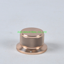 1pc 44x34x25mm Gold Aluminum Vintage Control Knurled knob for Guitar Amplifier Parts
