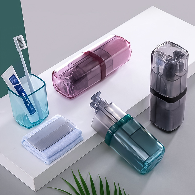 Portable Wash Cup Set Toothbrush Box Toothbrush Toothpaste Storage Holders Mouth Cup Sub-bottle Travel Bathroom Washing Set image