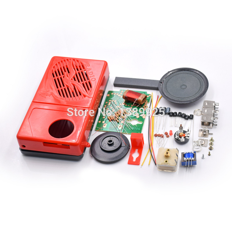 Free Shipping Factory Wholesale 9018-2AM AM Radio Electronic Kit Electronic DIY Learning Kit
