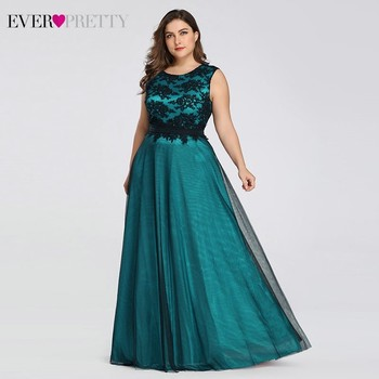 Plus Size Elegant Evening Dresses Ever Pretty Burgundy A-Line Lace Sleeveless Sexy Dress for Party EZ07545 Robe De Soiree 2020 5