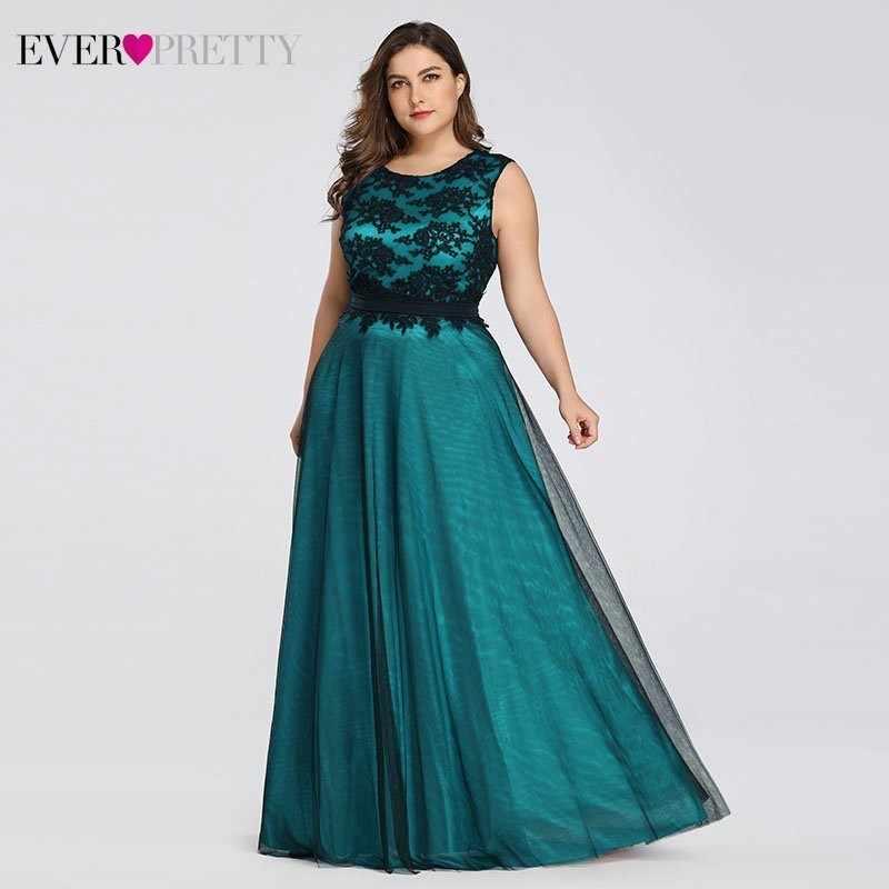 Vestidos De Noche elegantes De talla grande siempre bonito Borgoña A-Line encaje vestido sin mangas Sexy para fiesta EZ07545 bata De Soiree 2019