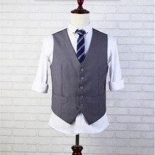 Formelle anlässe männer weste mit hochwertige hochzeit der bräutigam anzug weste stil einreiher anzug weste