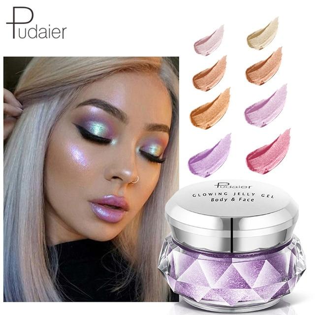 3D Contour Face Glowing Highlighter Glitter Bronzer Powder Pigment Cream Festival Makeup Cosmetics Metallic Highlighter Palette