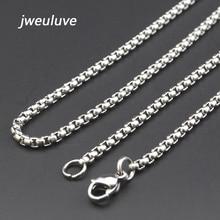 1.49 Dor/Piece Promotion ! 40/45/50/55/60/65/70cm,3mm Width 316L Stainless Steel For Women Men Fashion Chains Necklace KN002