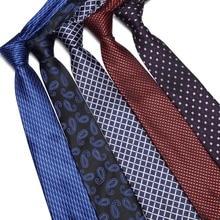 High Quality Fashion Classic Mens Stripe Silk Tie Yellow White Blue Jacquard Woven 100% Necktie Polka Dots Ties