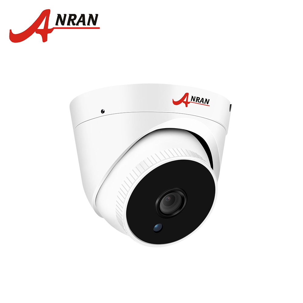 цена ANRAN ONVIF POE Camera IP Outdoor+Indoor 2.0MP Full HD Dome Security Camera P2P 48 IR Onvif Alarm Email 1920*1080 CCTV Camera