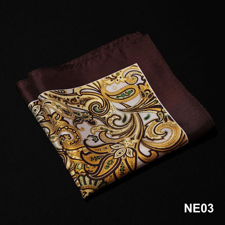NE03 HN06Y Yellow Brown Paisley