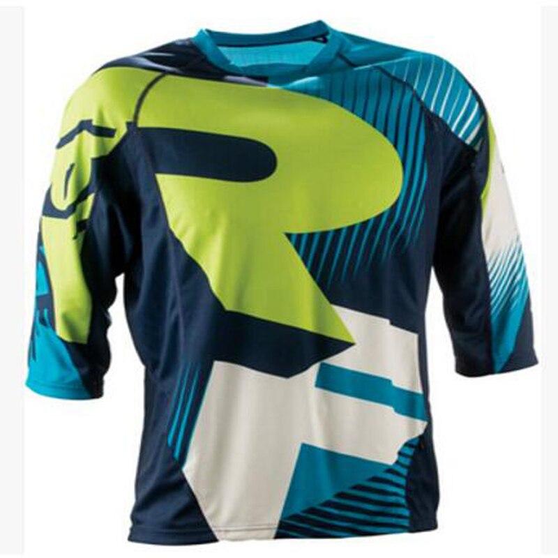 Acheter Vélo Enduro 3/4 Descente à Vélo Maillots Personnalisé Vélo DH Descente à vélo/BMX Maillots 2017 nouvelle couleur Moto de downhill cycling jersey fiable fournisseurs