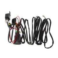 Universal 12V 40A Relay Wiring Harness With On/Off Switch Kit For Car LED Fog Light Automobiles Cables Adapters Sockets