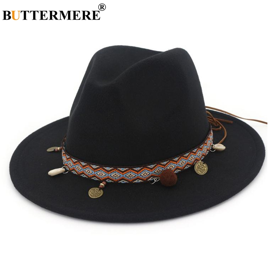 ... Ethnic Style Wool Felt Hat Female Wide Brim Casual Ladies Autumn  Holiday Jazz Caps Fashion. Features  Red Fedoras Hats   Wool Felt Hat    Holiday Jazz ... e1d58918f26d