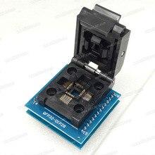 Gniazdo programatora chipów TQFP32 QFP32 LQFP32 do DIP28 gniazdo adaptera wsparcie ATMEGA8 seria TL866A TL866CS programator uwalnia statek