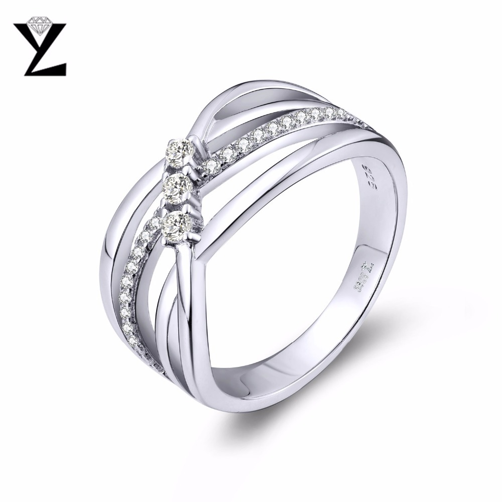 YL 100% 925 Sterling Silver Wedding Rings For Women Men's