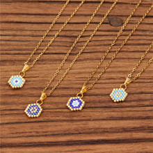 Trendy MUYIKI Glass Beads Women Necklace Handmade Weave Geometric Stainless Steel Choker Necklaces Charm Female Jewelry Bijoux