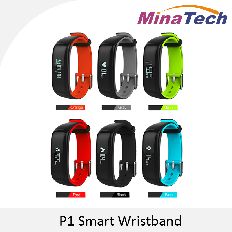 P1 Heart Rate Monitor Smart Wristband Smartband Watches Blood Pressure Bluetooth Smart Bracelet Fitness for