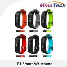 P1 Heart Rate Monitor Inteligente Pulsera Smartband Relojes de Presión Arterial Bluetooth Pulsera Inteligente de Fitness para Android IOS Teléfono