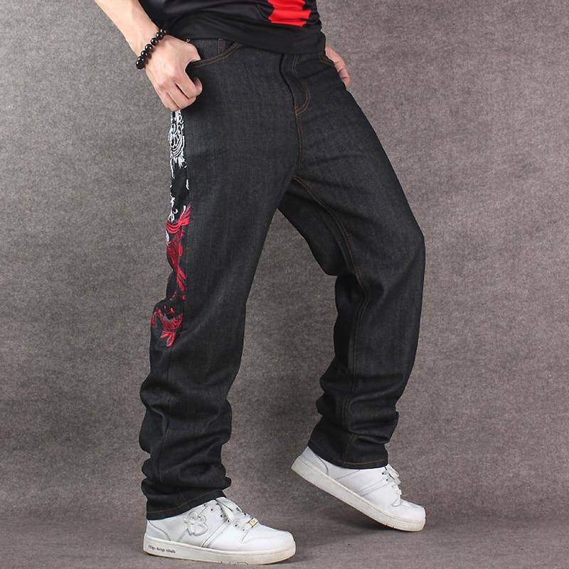 2019 Men's Black Baggy Jeans Hip Hop Designer CHOLYL Brand ...