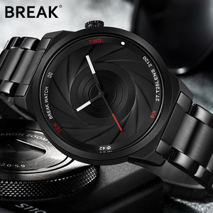 BREAK Unique Design Photographer Series Men Women Unisex Wristwatch Stainless Steel Quartz Sports Creative Casual Fashion Watch(China)