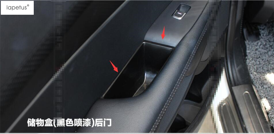 Plastic ! Accessories For KIA Sorento L 2015 2016 2017 Car Storage Pallet Armrest Container Box Molding Cover Kit Trim 4 Pcs