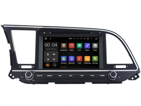 Android 7 1 1 2GB car DVD player for Hyundai Elantra 2016 gps navi font b