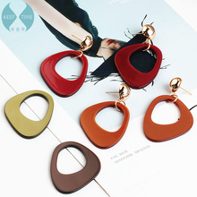 Ritoule DIY handmade jewelry accessories pierced earrings simple triangle plate material pendant