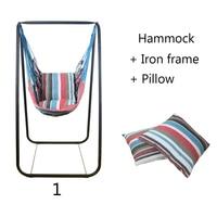Модные Спальня гамак для дома и улицы студенческого общежития качели кровать детская подвесной отдыха стул + железный каркас + 2 подушки
