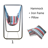 Модные гамак для спальни дома и улицы студенческого общежития качели кровать детская подвесной отдыха стул + железный каркас + 2 подушки