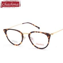 Chashma Brand Top Quality Cat Eye Glasses Women Fashion Small Tortoise Color Optical Eyeglasses 15 Grams