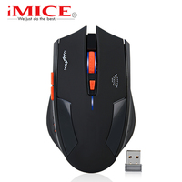 Wireless Mouse Rechargeable Slient Button Computer Gaming 2400DPI 6 Buttons Built In Battery With Charging Cable