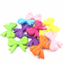 10Pcs Mixed Spacer Beads Bowknot Acrylic Charms Fashion Jewelry DIY Findings 46mm