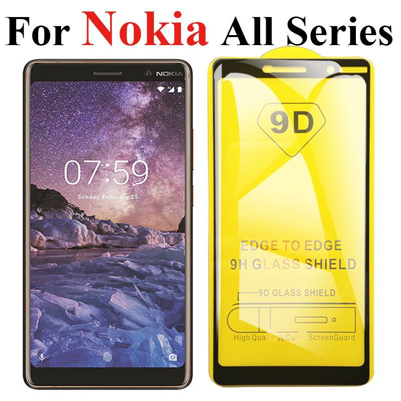 9D Curved Tempered glass for <font><b>Nokia</b></font> 9 <font><b>7.1</b></font> 8.1 plus x7 X 5 6 7 Glass <font><b>screen</b></font> <font><b>protector</b></font> Film for <font><b>Nokia</b></font> x5 x6 5.1 6.1 plus 3 5 6 2018 image