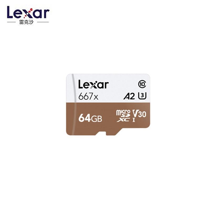 Lexar Micro SD Card Memory Card 64GB 128GB MicroSD Max 100MB/s V30 667x C10 TF Card A2 U3  256GB  Cartao De Memoria