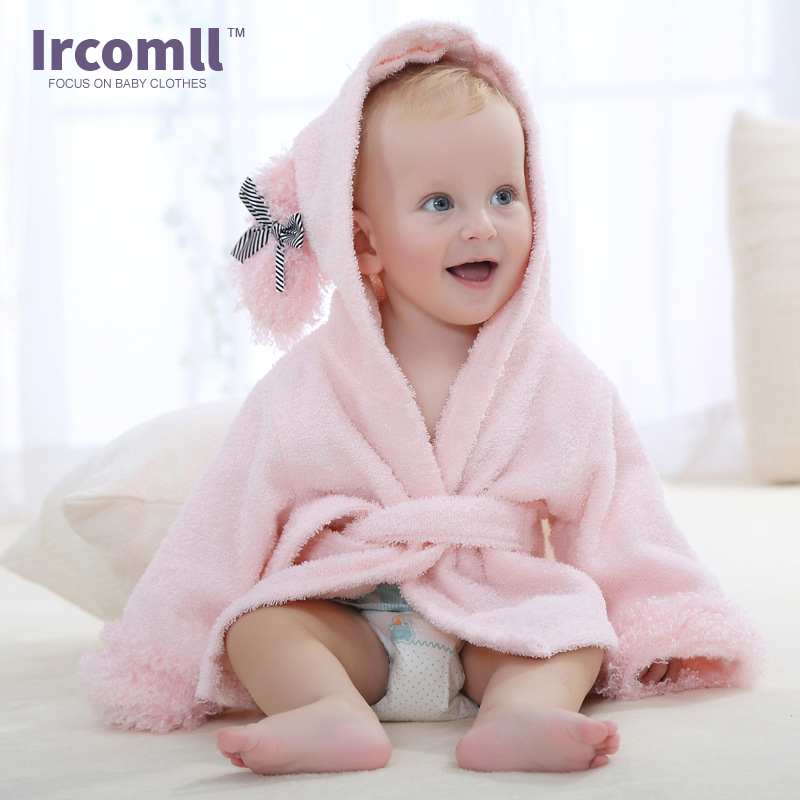 Baby Robe For 0-12 Month New Bron Baby Cartoon Robe Boys Girls Comfortable Bathrobe Home Wear Cute Rompers
