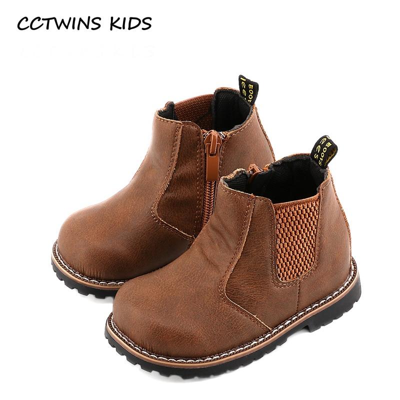 CCTWINS KIDS 2017 Autumn Toddler Baby Girl Black Ankle Boot Kid boy Brand Booties Children Fashion