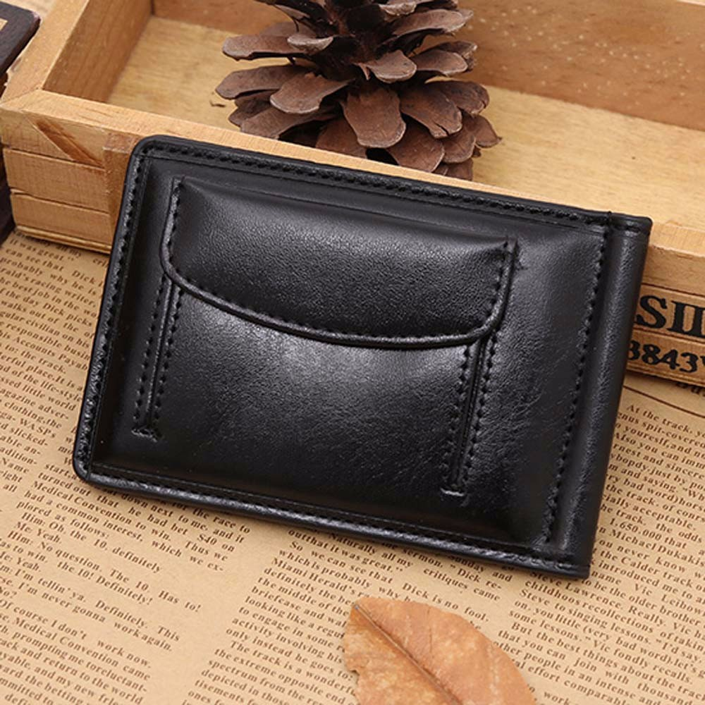 New Men Leather Card Cash Receipt Holder Organizer Bifold Wallet Purse Male Money Pocket Mini Small Coin Pocket For Male цена 2016
