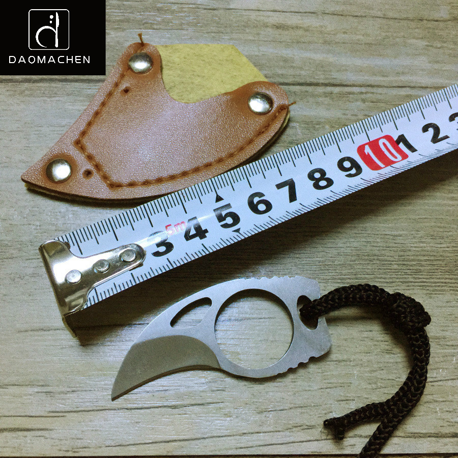 Mini strumento non pieghevole degli artigli del coltello del coltello dell'artiglio della lama del boutique all'aperto 5pcs / lot piccolo per il coltello di campeggio dell'autodifesa Trasporto libero