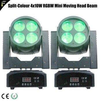 2 unidades 10Wx4 LED Mini Super Split Beam luz móvil RGBW colorido lavar cabeza móvil discoteca noche club DJ Venue equipo de efecto