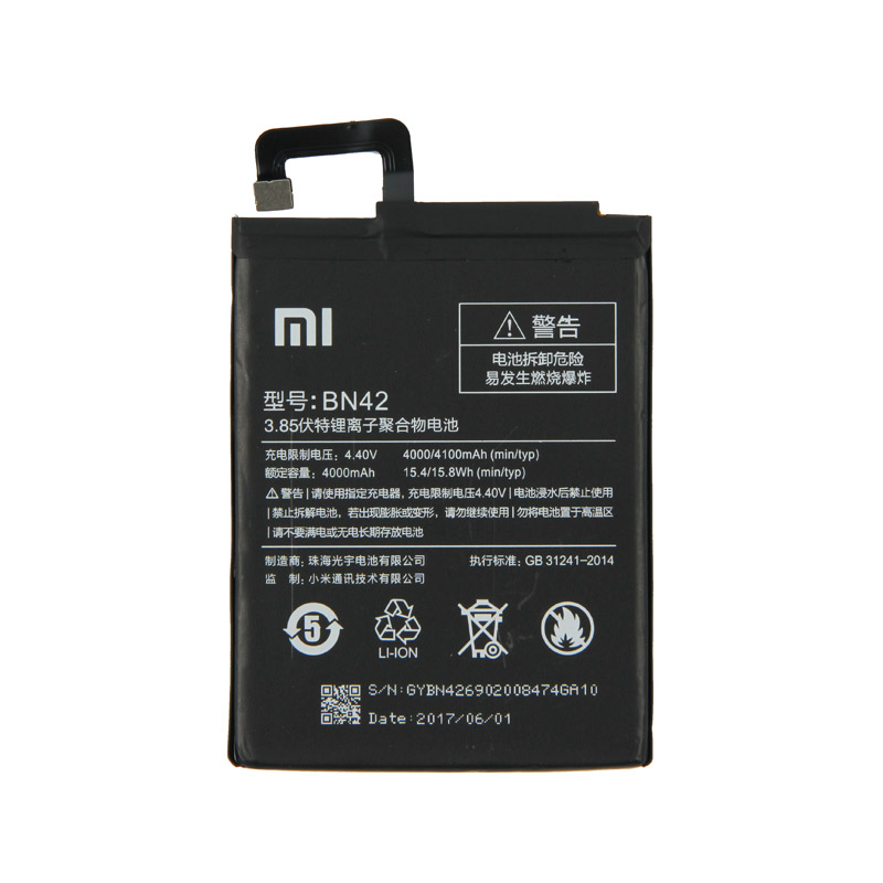 Original Xiaomi BN42 Phone battery For xiaomi Redmi 4 Hongmi 4 2G RAM 16G ROM 4000mAh in Mobile Phone Batteries from Cellphones Telecommunications