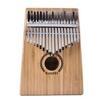 New 17 Key Kalimba Bamboo Rosewood Thumb Piano Finger Mbira with Case Bag Xmas Gift Musical Instrument for Music Lovers Beginner